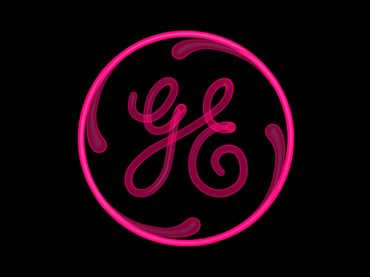 General Electric Logo Coil Pink X-Ray Front View