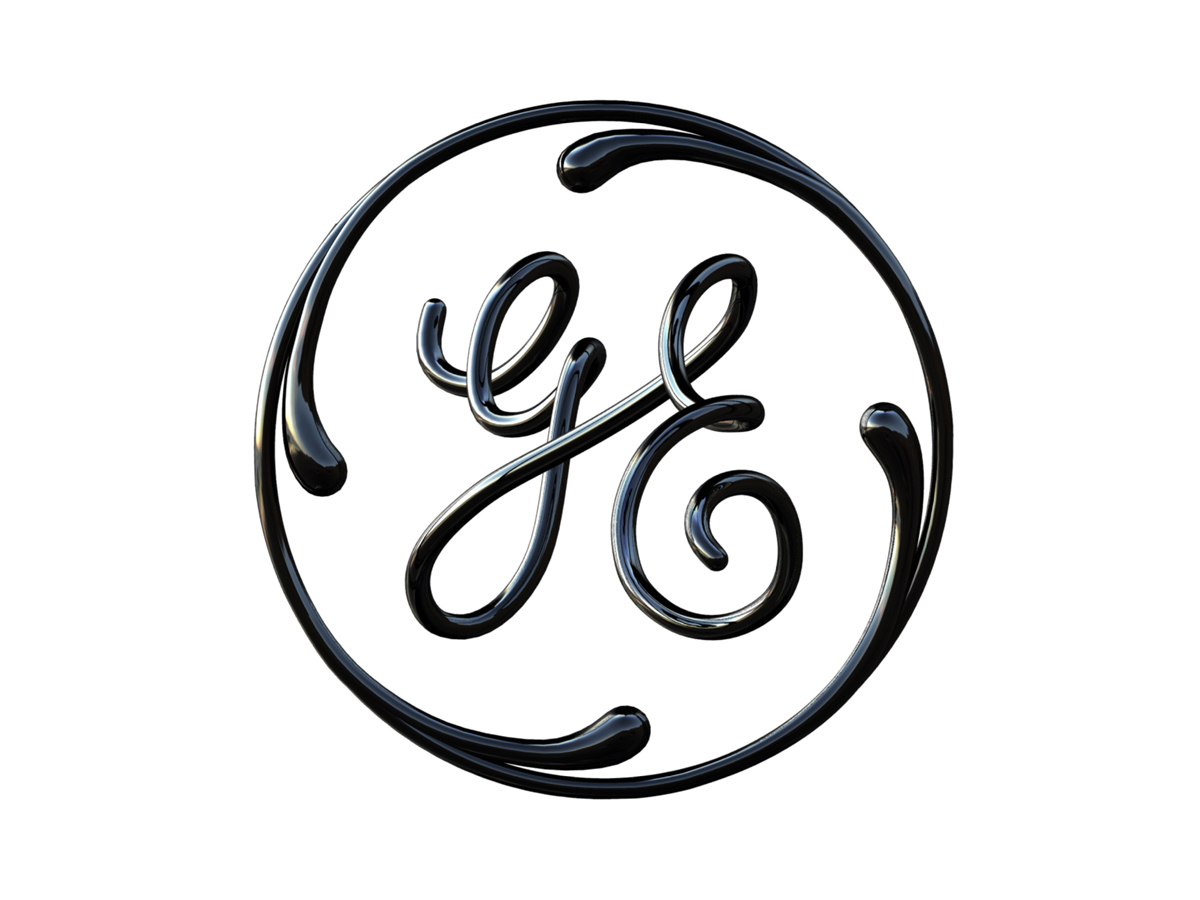 General Electric Logo Coil Front View Gloss Black