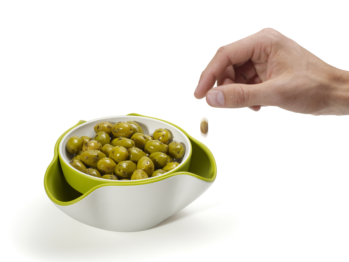 Double Dish In Use Olives
