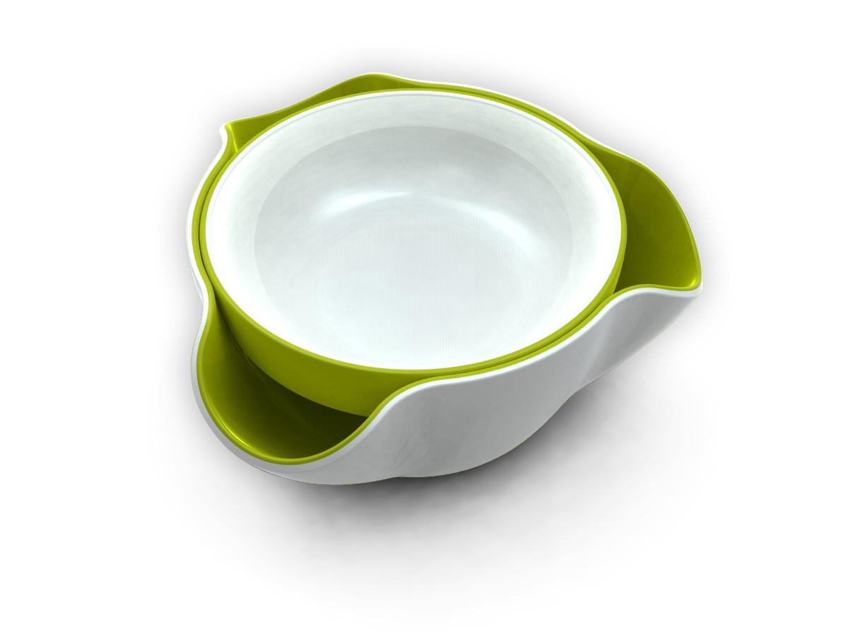 Double Dish White