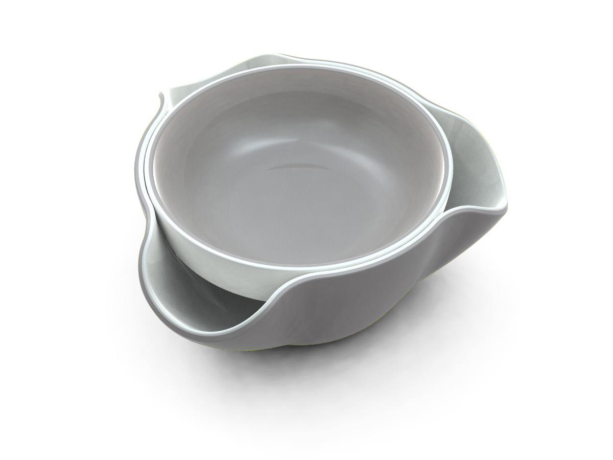 Double Dish Grey