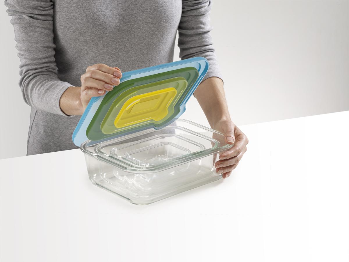 Nest Glass Storage Open Lids