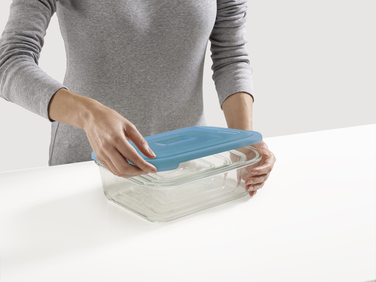 Nest Glass Storage Opening Lids