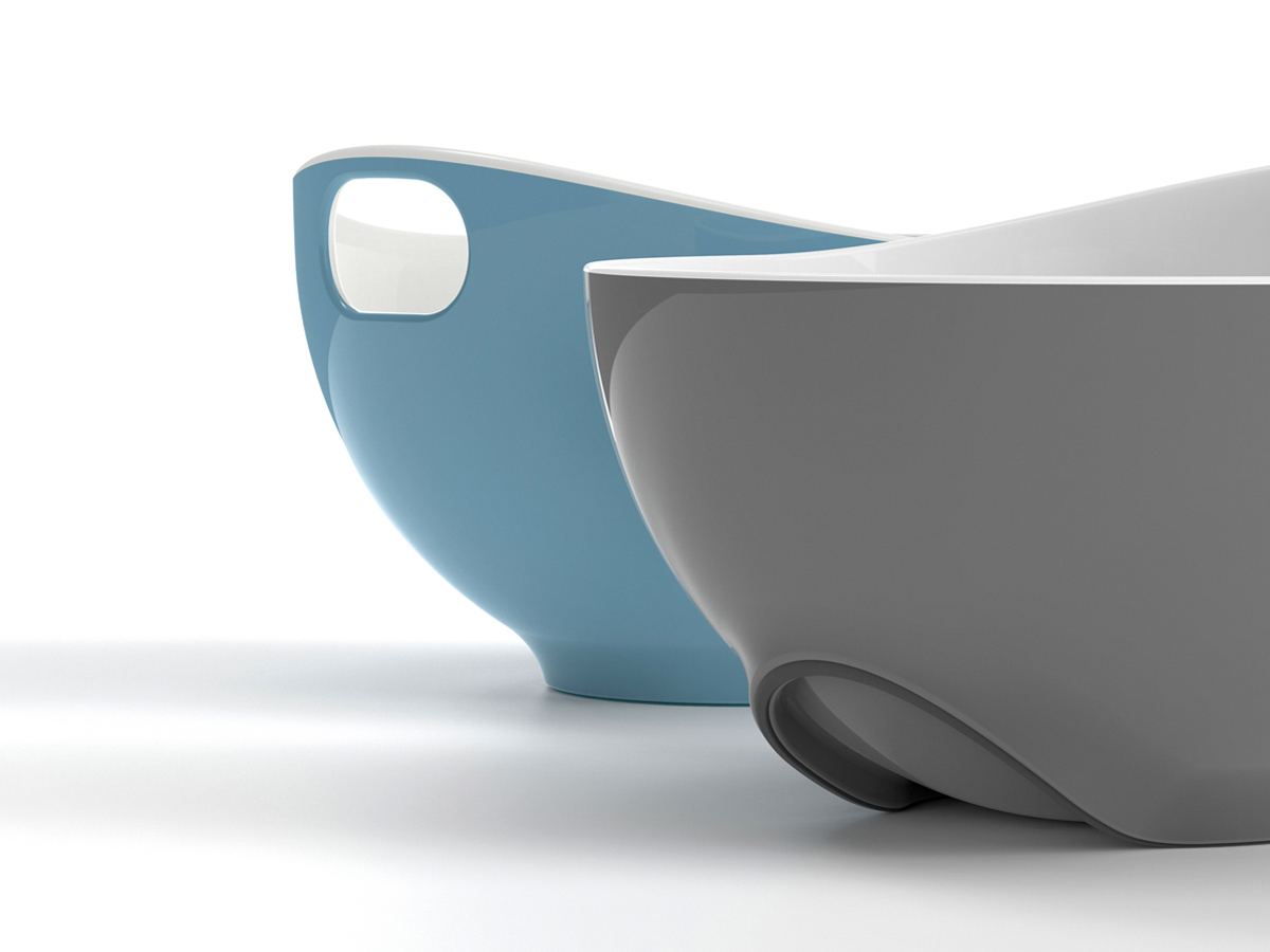 Tilt Mixing Bowl Blue & Grey