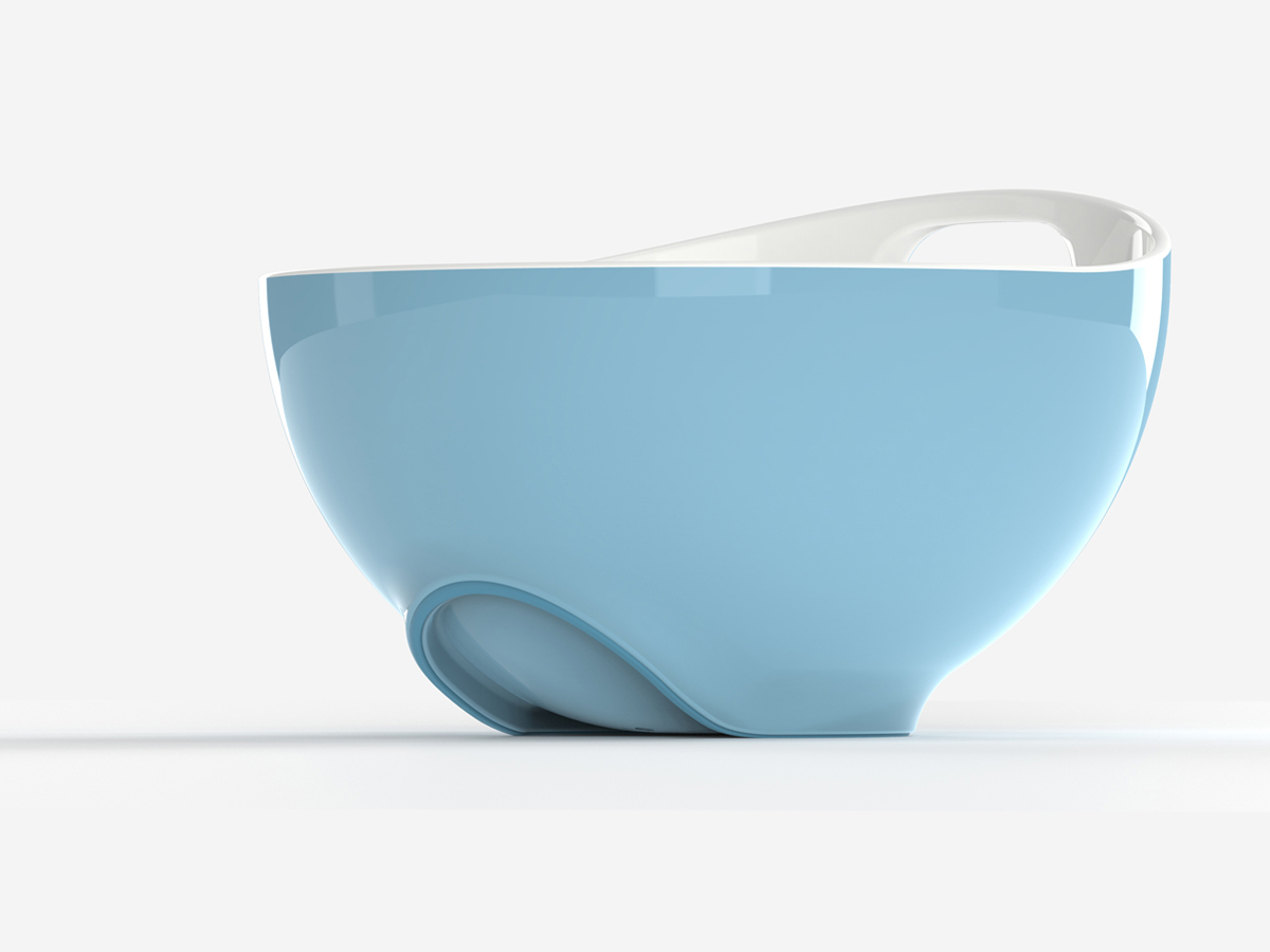 Tilt Mixing Bowl Blue Foot Detail