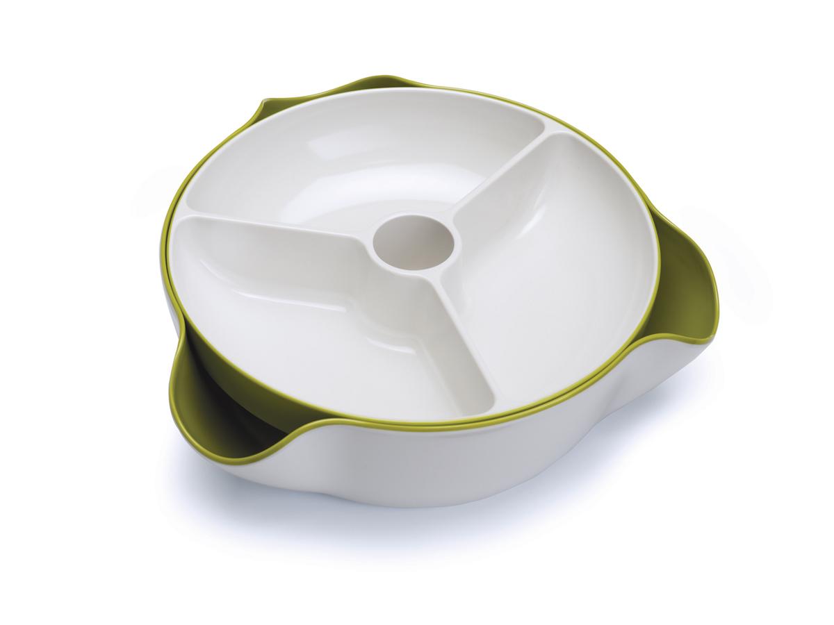 Double Dish Large White