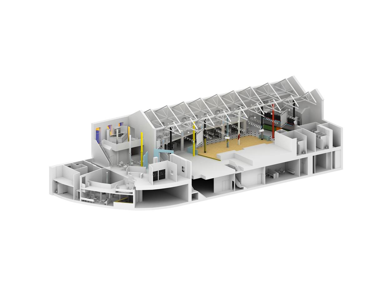 Hacienda Axonometric Single Elevation 1st