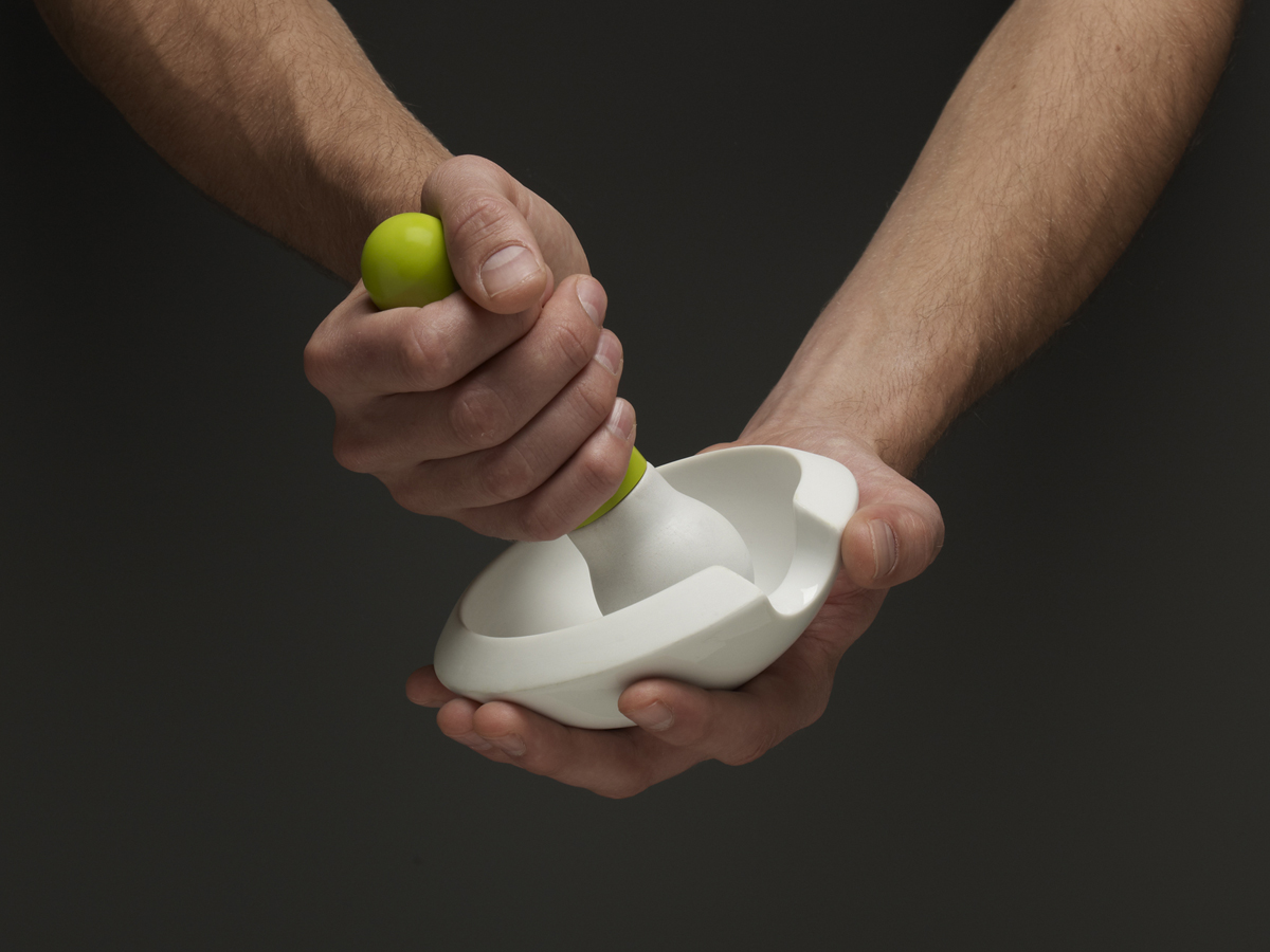 Orb Top Part In Use In Hand