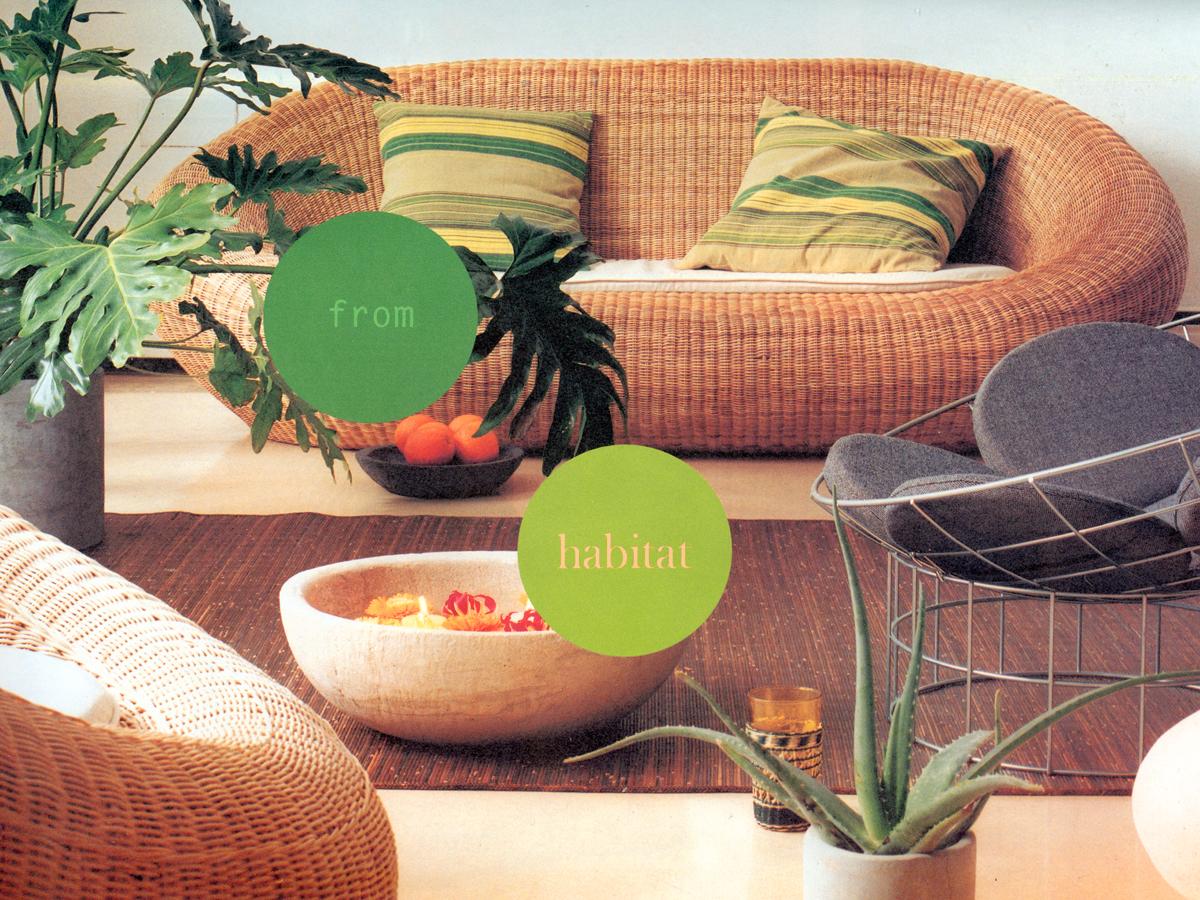 'Pod' Rattan Armchair & Sofa by Morph for Habitat