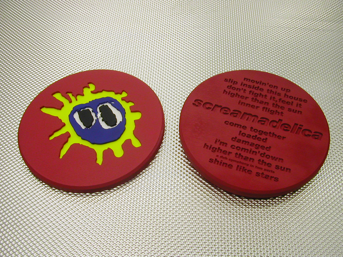 "Primal Scream Screamadelica Ltd Edition 20th Anniversary ""Pill"" Alt Test Front & Back"