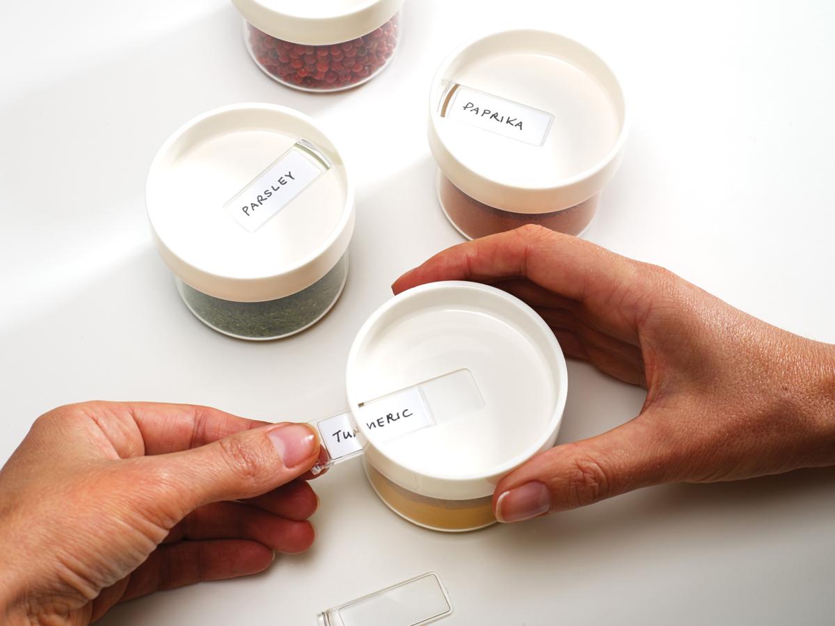 SpiceStore Lid Detail Label White