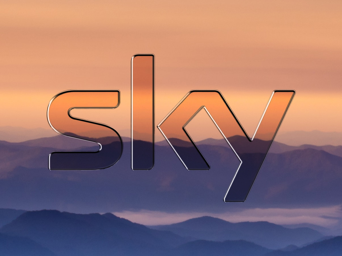 Sky Logo With Background