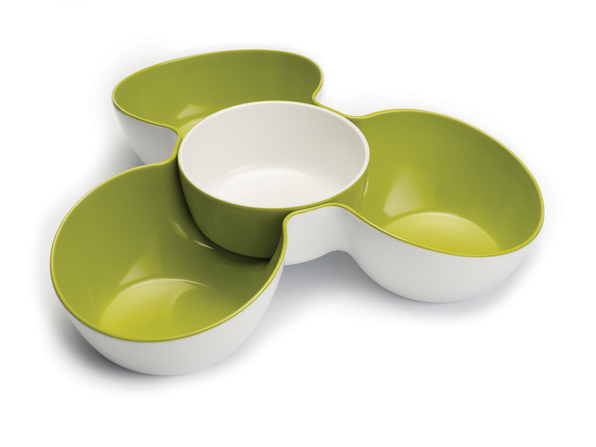 Triple Dish White