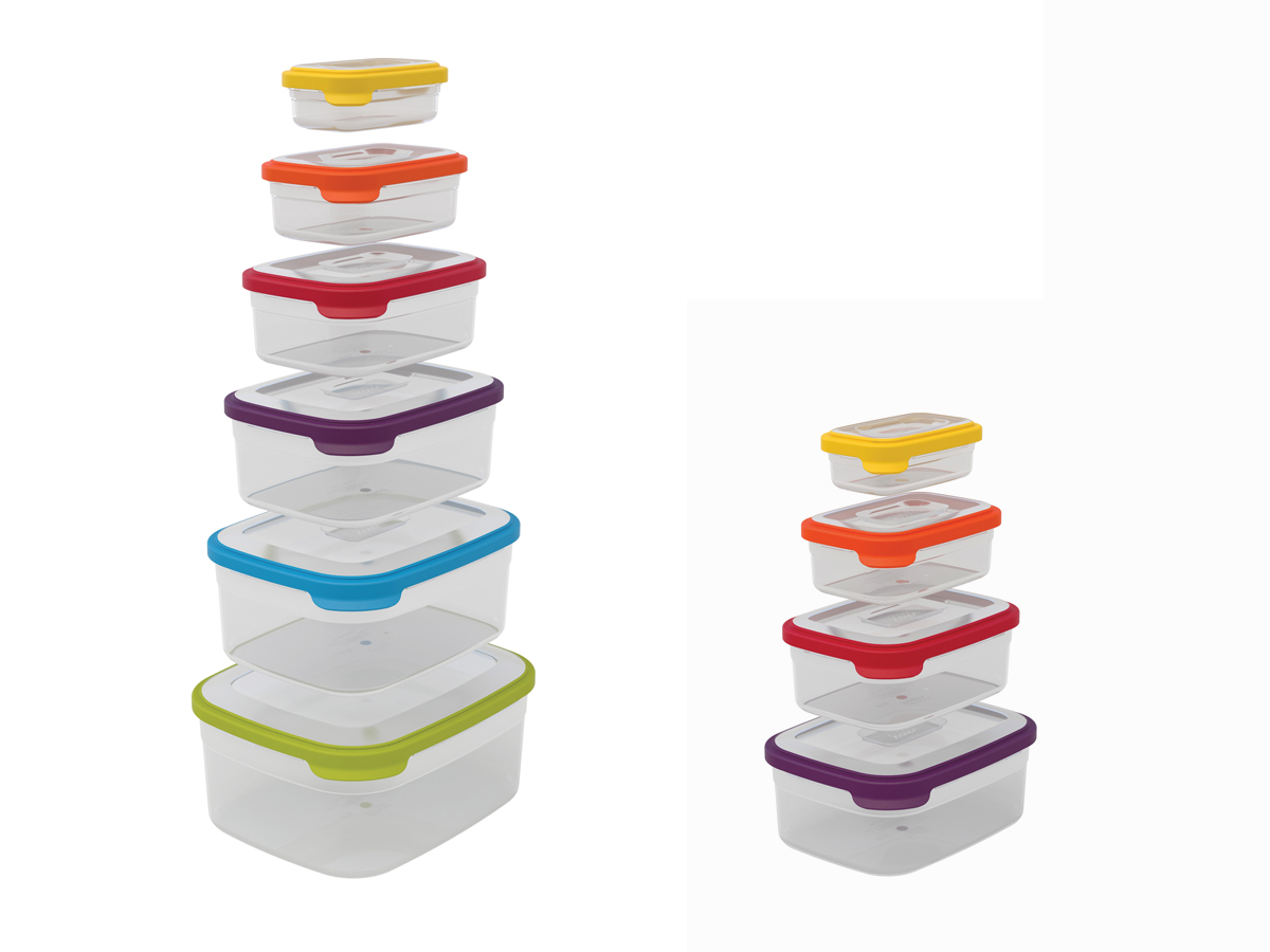 Nest Storage 6-Piece & 4-Piece Stacked
