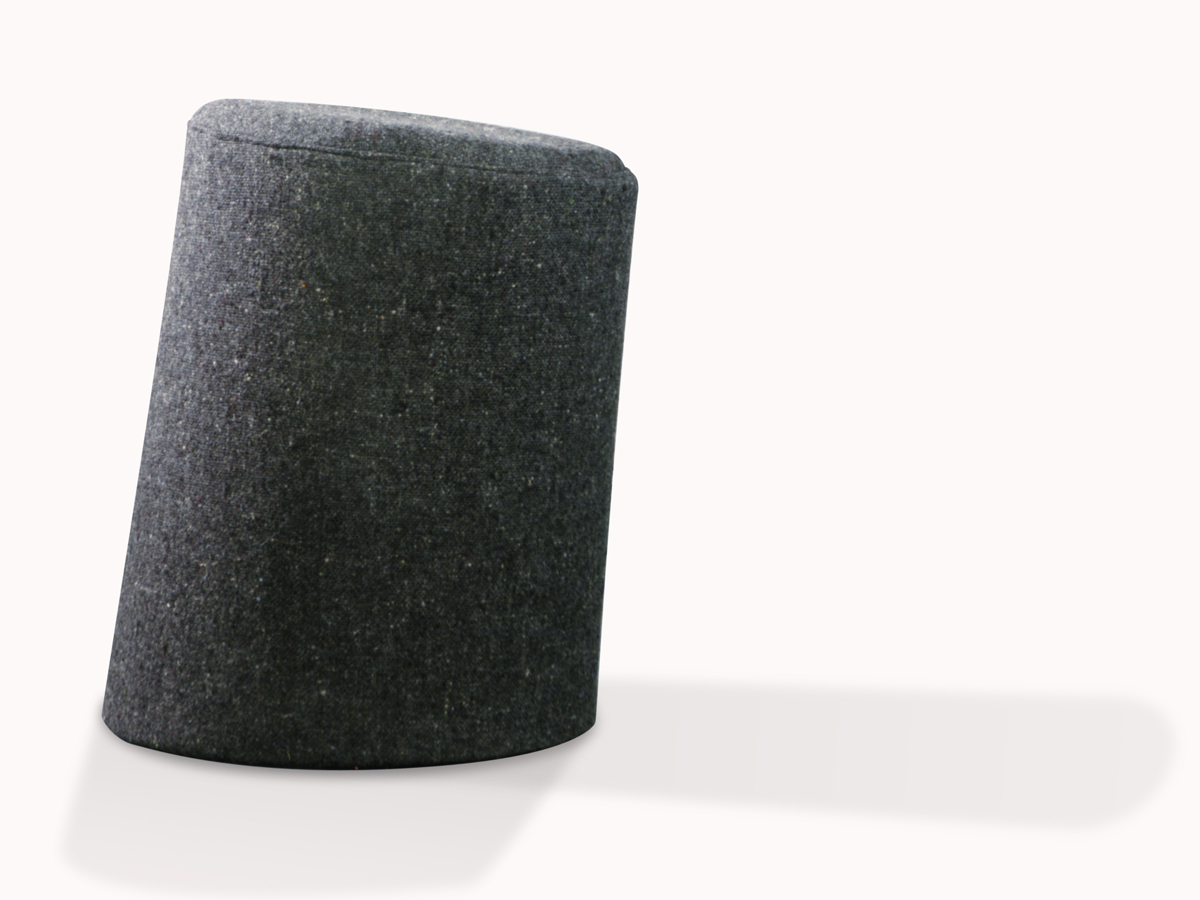 10 Degree Stool Grey Single