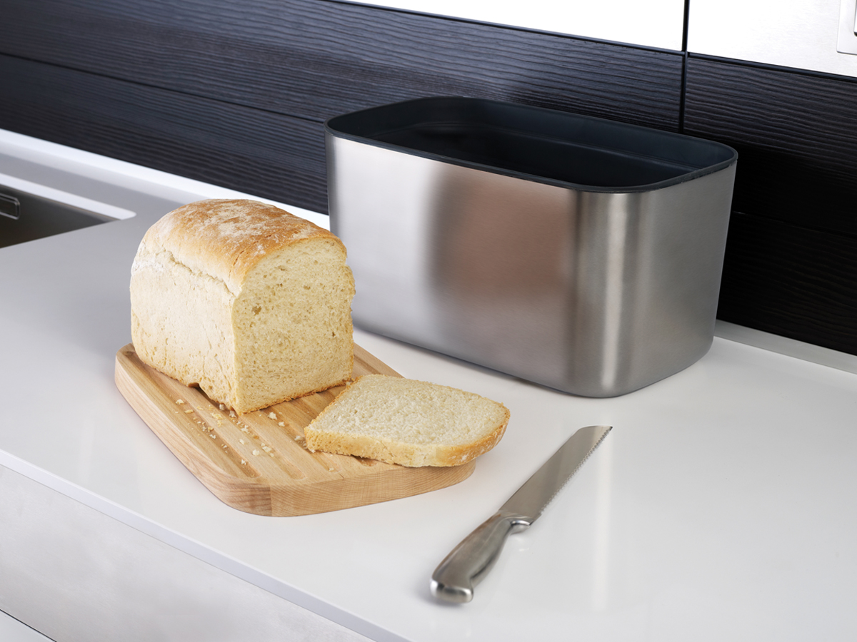 Bread Bin 100 In Use Cut Bread
