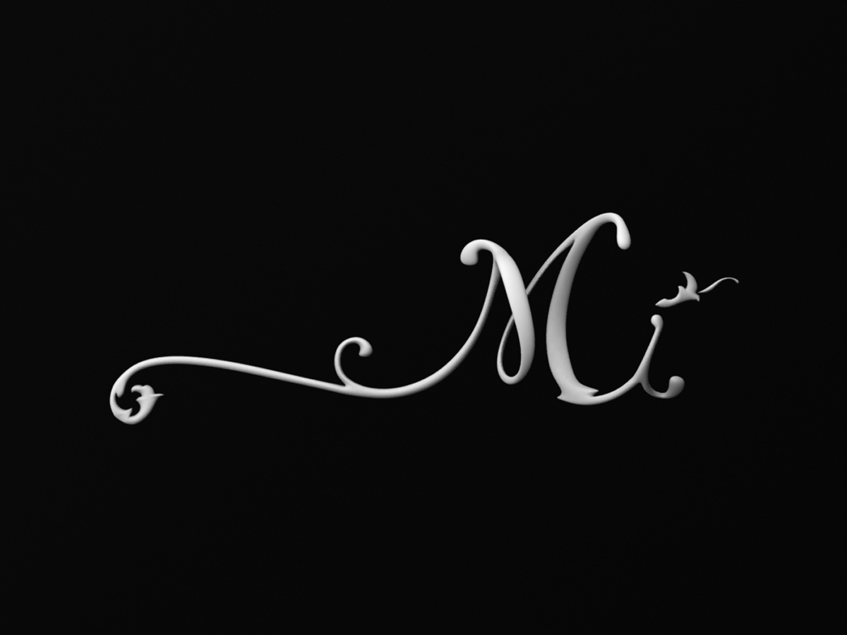Mi Logo White on Black