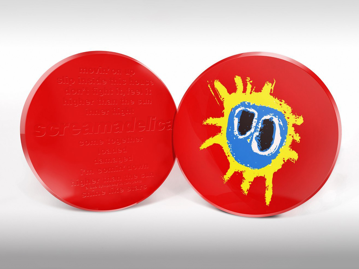 "Primal Scream Screamadelica Ltd Edition 20th Anniversary ""Pill"" Closed Front & Back"