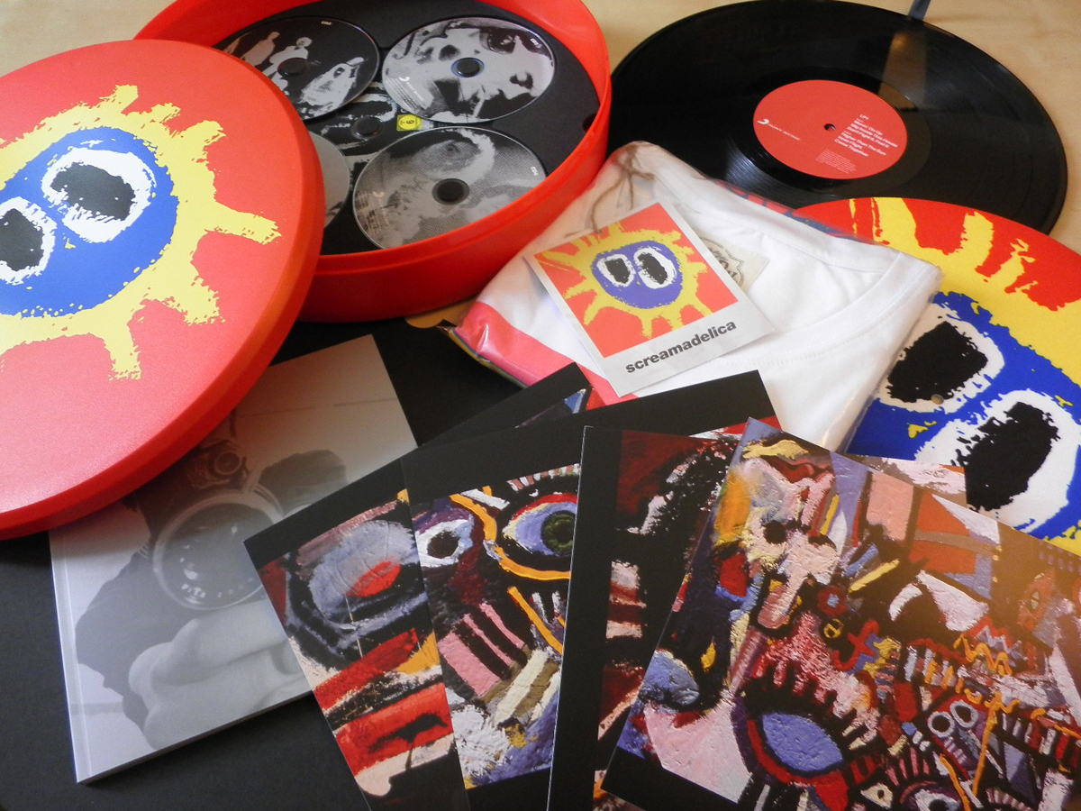 "Primal Scream Screamadelica Ltd Edition 20th Anniversary ""Pill"" Open Closeup"