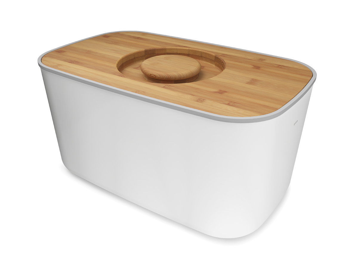 Steel Bread Bin White