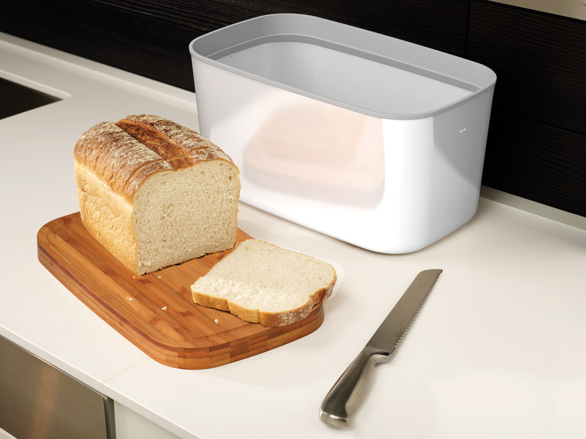 Steel Bread Bin In Use