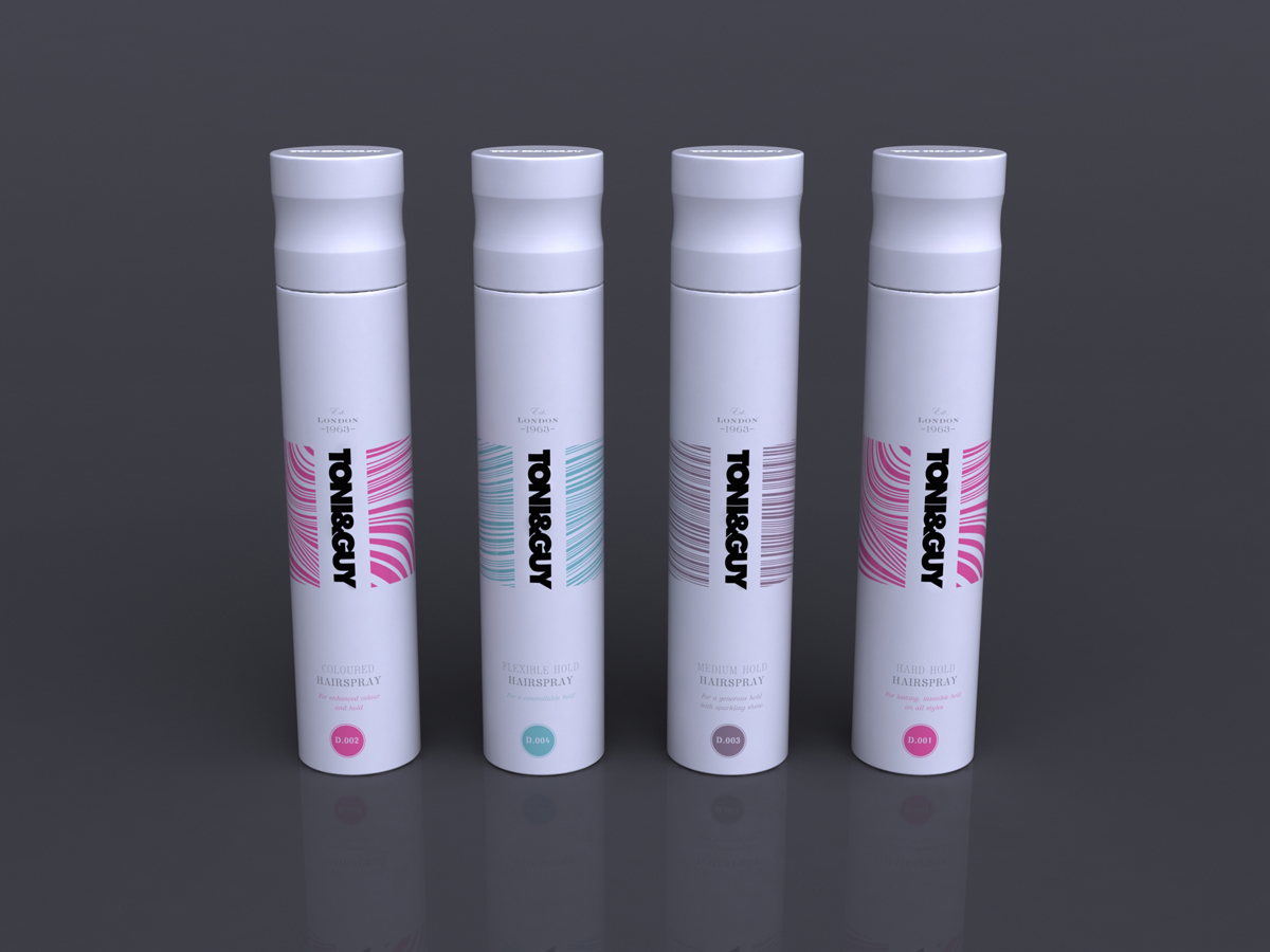 Toni & Guy Packaging Concept 2 White Tall Containers