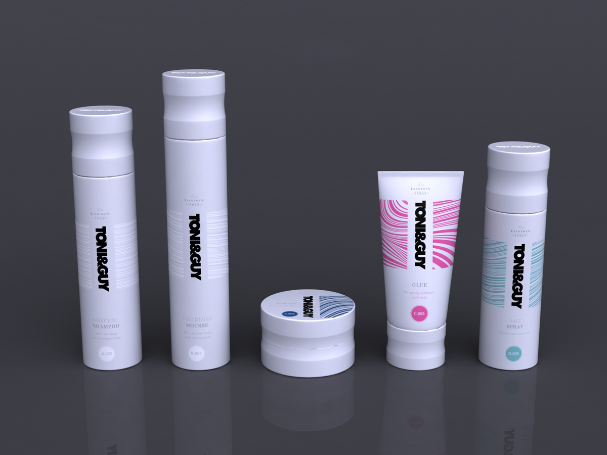 Toni & Guy Packaging Concept 2 White All Sizes