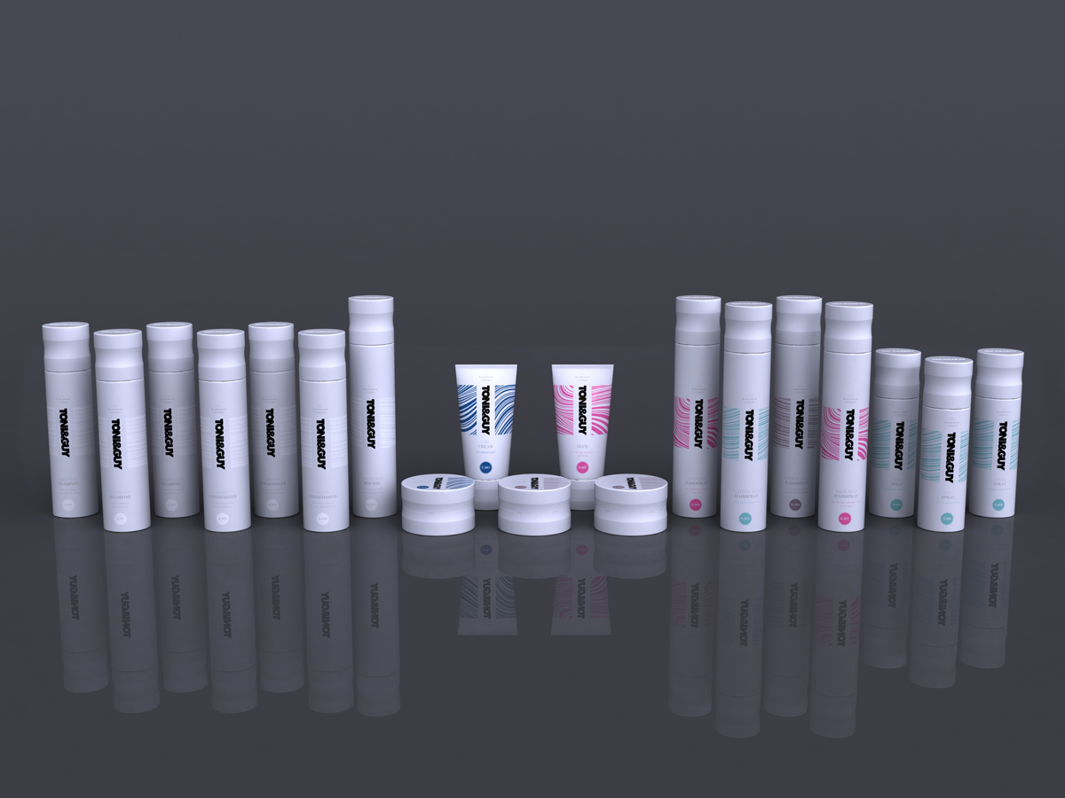 Toni & Guy Packaging Concept 2 White Full Range