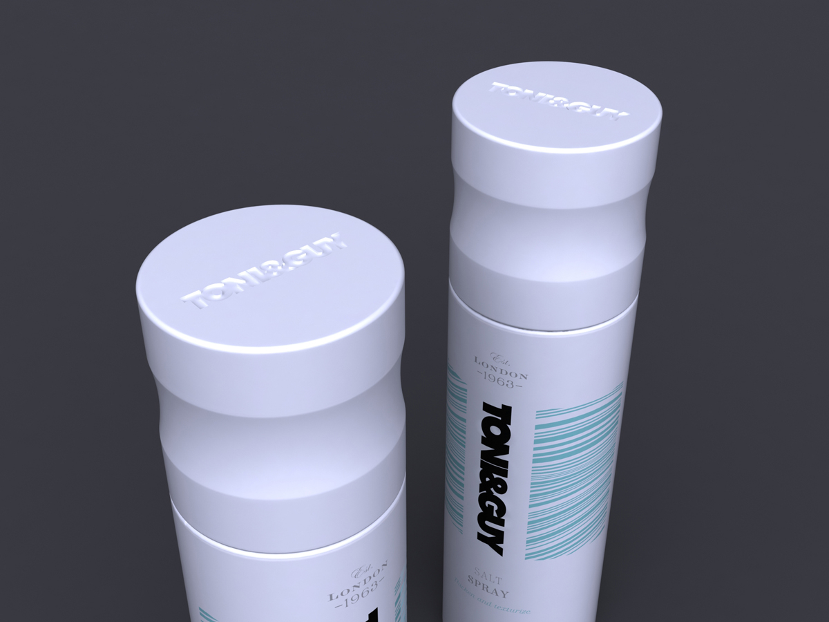 Toni & Guy Packaging Concept 2 White Lid Detail