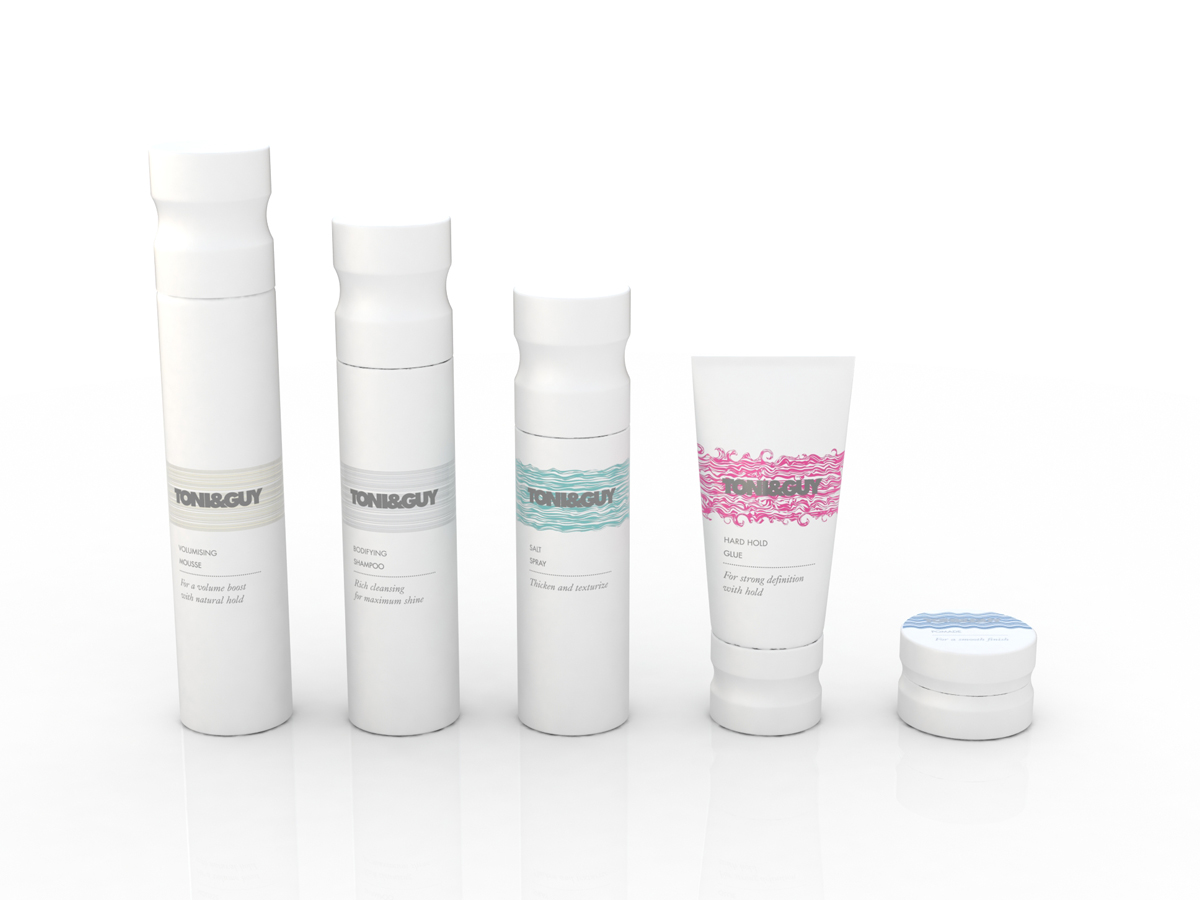 Toni & Guy Packaging Concept 1 White All Sizes
