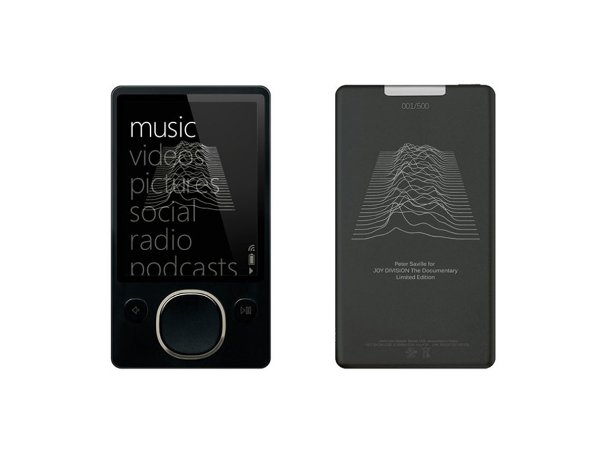 Unknown Pleasures Zune Player Front & Back