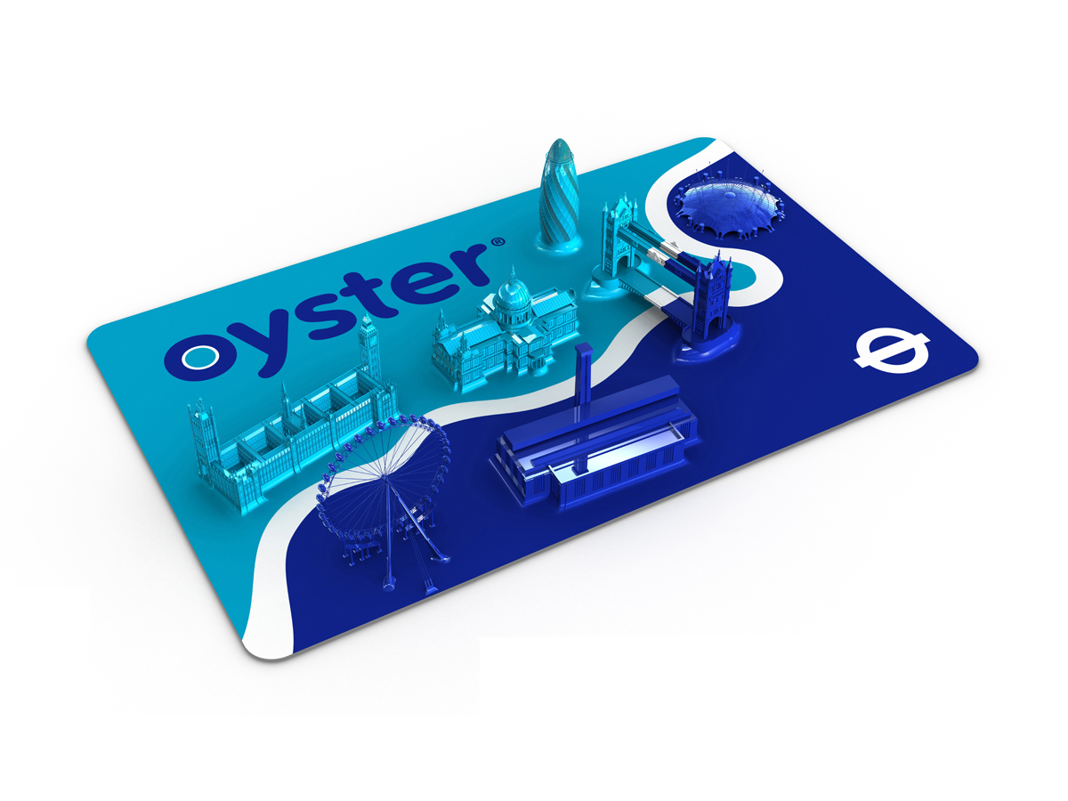 "Oyster Card ""Landmarks"" Artwork by Morph for M&C Saatchi & TFL"