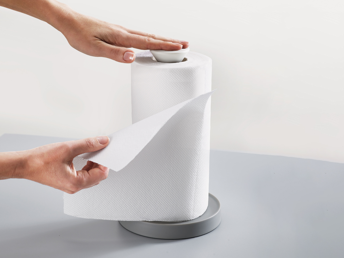 Duo Easy Tear Kitchen Roll Holder In Use